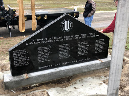 Paving the way to memorial wall