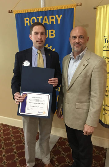 Tarbox named Rotarian of the Year