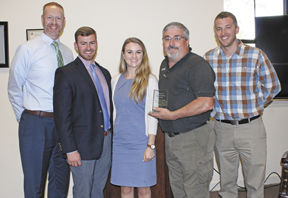 School employee receives recognition at BOE meeting