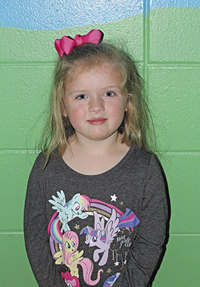 """<p>Adlee Reynolds, Pre-K, said she is thankful for her family. """"I always want to play with my dad.""""</p>"""
