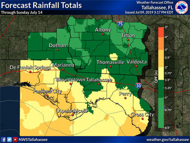 Possible tropical development causes showers, storms