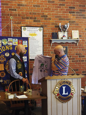 Moser revs engine at Lions Club
