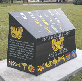 Warrant Officer monument installed at Fort Rucker