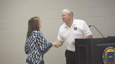 Commission honors leaving Coffee County Registrar