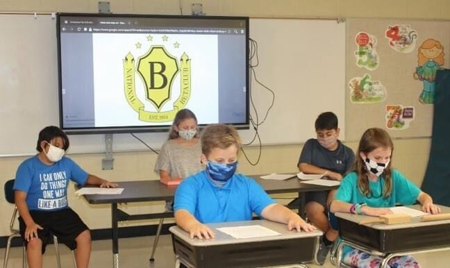 HES Beta Club members during a virtual meeting