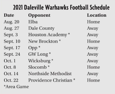 DHS Football Schedule