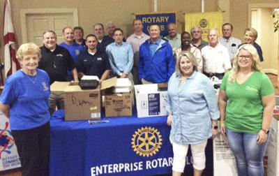Enterprise Rotary Club shows support of first responders