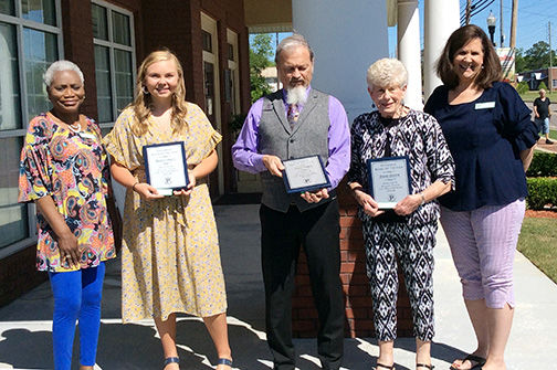Man, Woman, Youth of the Year receive award from Pilot Club members