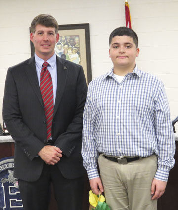 Coppinville student selected to lead Pledge at EBOE meeting