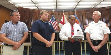 Enterprise firefighter recognized for outstanding service