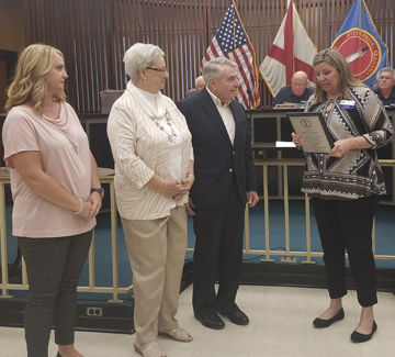 Gant honored for service
