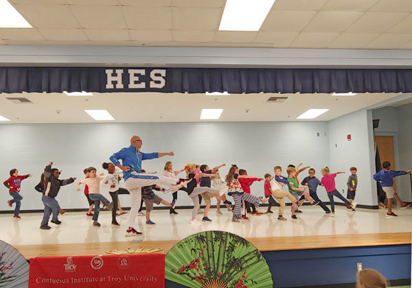 Hillcrest kids learn about Kung-Fu
