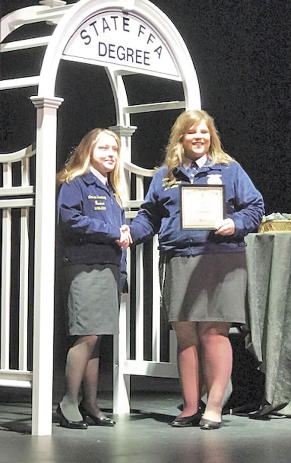 FFA, officers receive honors at state convention