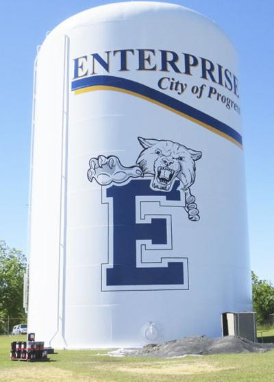 Enterprise city water tank view for national title