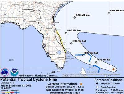 Potential Tropical Cyclone not expected to impact the area