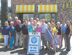 McDonalds of Enterprise was recently named as the May business of the month