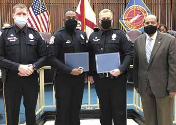 Enterprise police officers honored for 'outstanding, meritorious' service