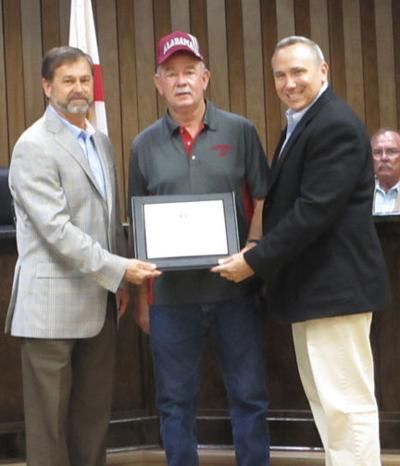 Dale County awards certificate of appreciation to Helms