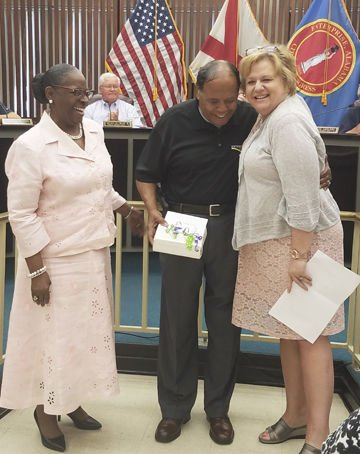 Cooper honored for service