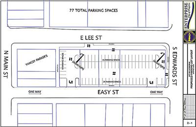 Layout of the new parking lot