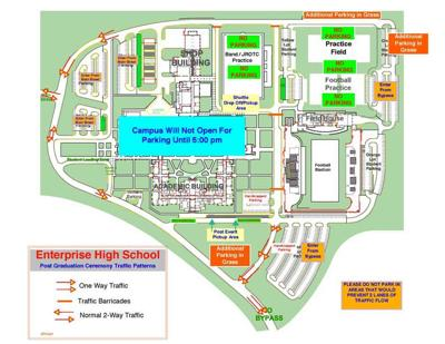 Traffic flow for EHS graduation