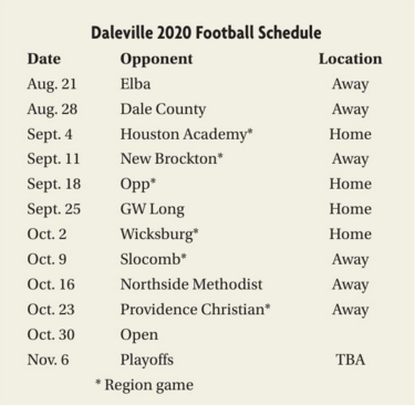 DHS Schedule