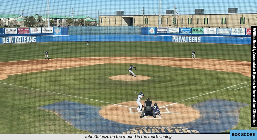 Splitter: Southern baseball splits  doubleheader against UNO