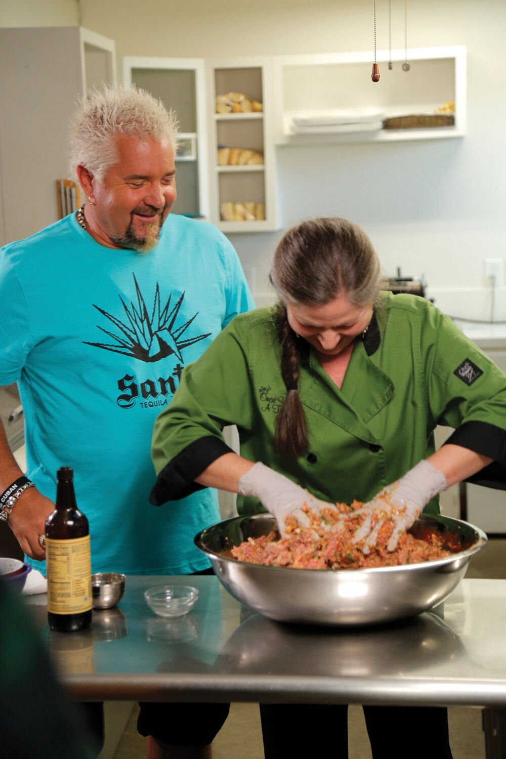 Guy Fieri and chef and owner Joy Templeton