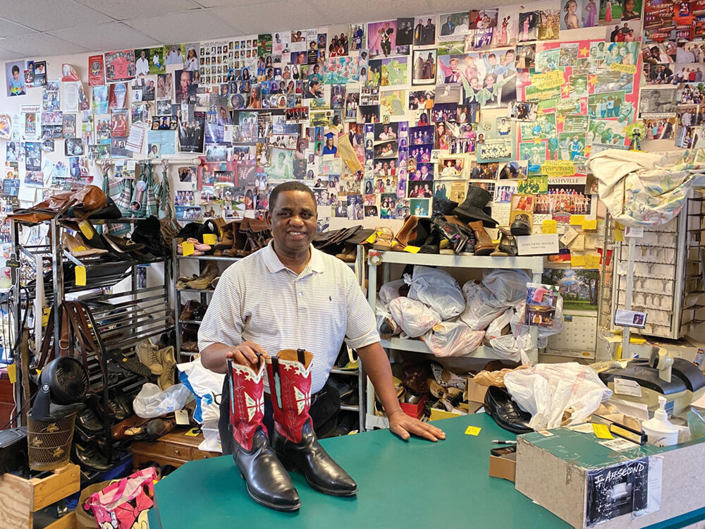James Jackson, Owner of J.A.W. Shoe Repair and Sewing