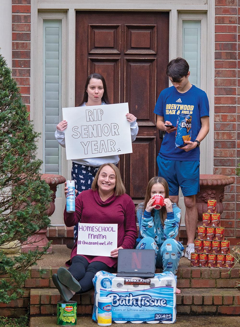 Becky Drennan picured with her children Karenna, Nathanand Rachel Cox