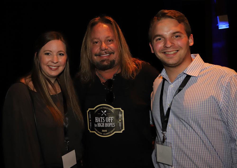 From left: Kellie Benz, Mötley Crüe lead vocalist Vince Neil and Matthew Benz