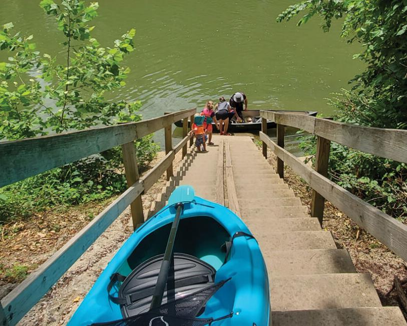 The kayak launch at Narrows of the Harpeth