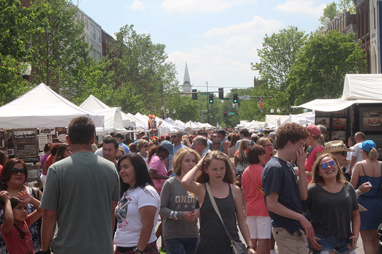 Crowds fill the streets at this years Main Street Festival