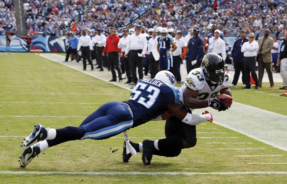 Keith Bulluck, former #53 for the Tennessee Titans was a defensive leader on and off the field. Photo by Donn Jones