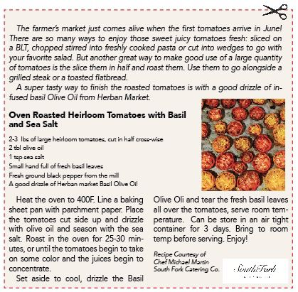 Over Roasted Heirloom Tomatoes