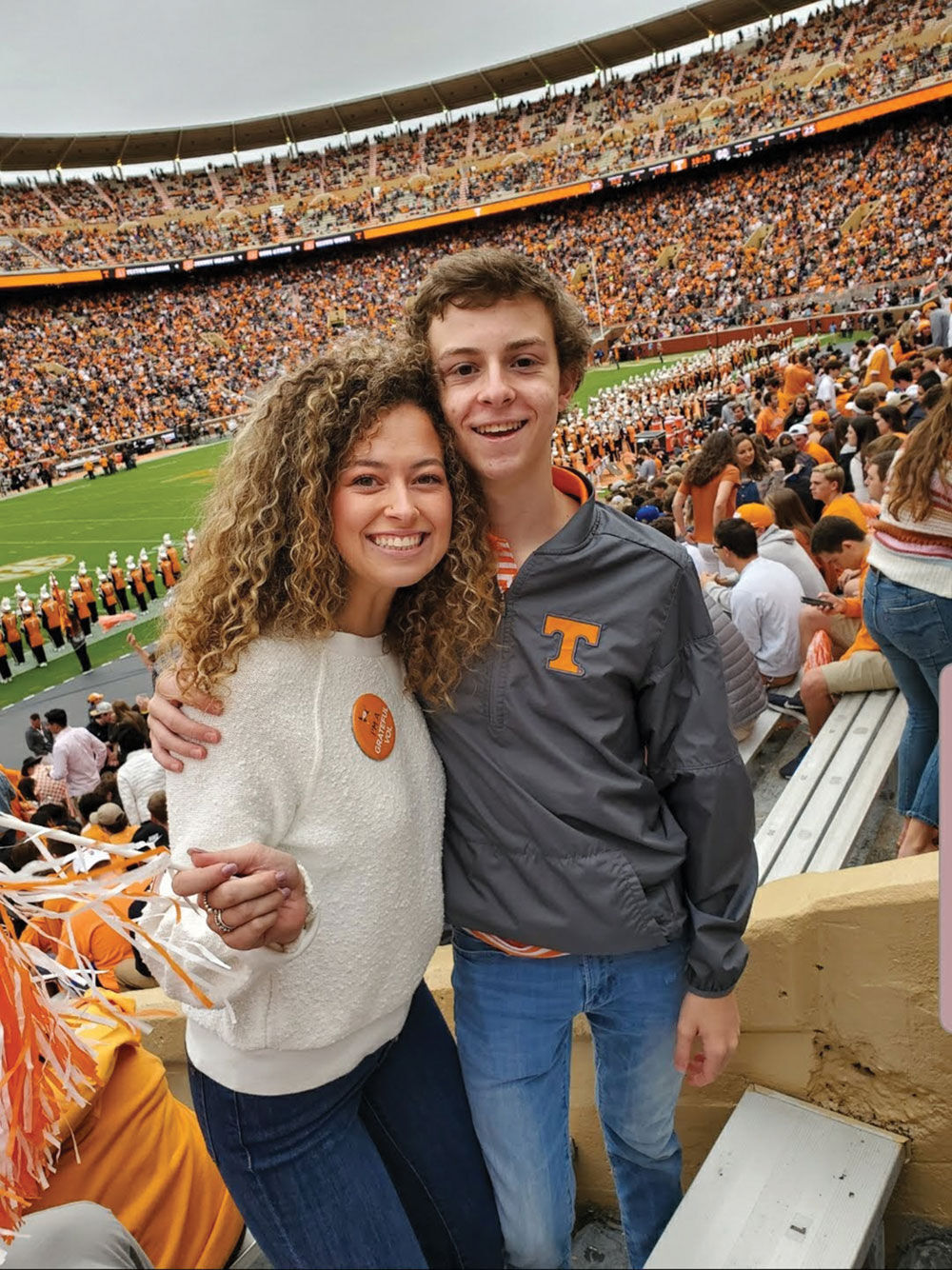 Carolanna Gatlin, left (recipient of scholarship from WCAR) and her brother Miller