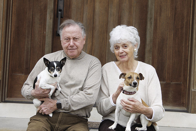 Calvin and Marilyn LeHew with Rusty and Ruby