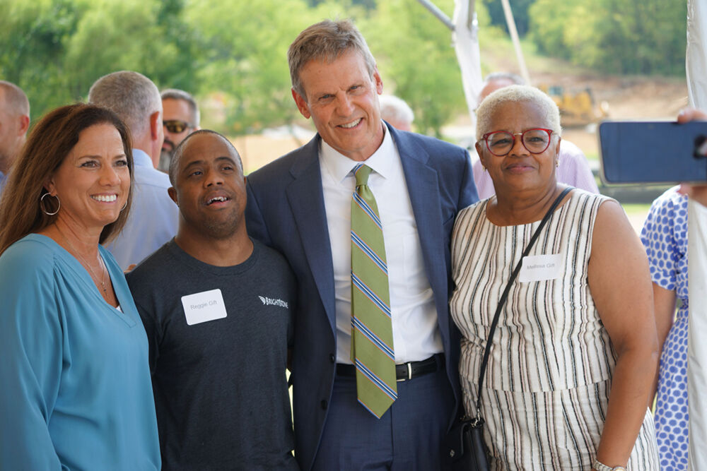 First Lady Maria Lee, Reggie Gift, Governor Bill Lee, and Melissa Gift