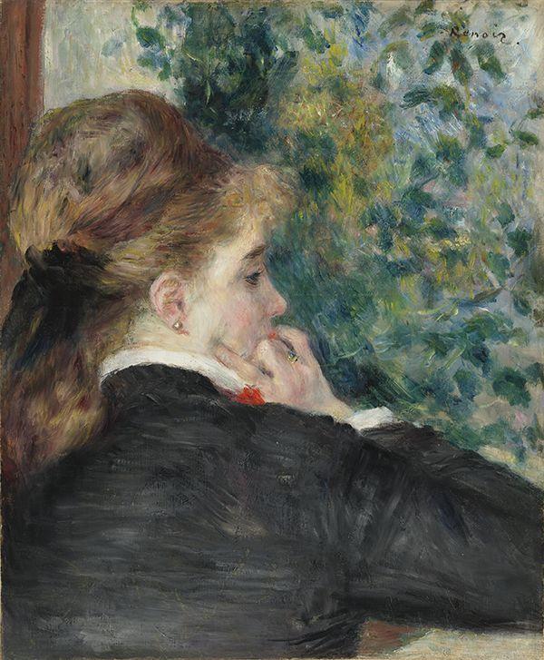 Pierre-Auguste Renoir (French, 1841–1919). Pensive (La Songeuse), 1875.tif