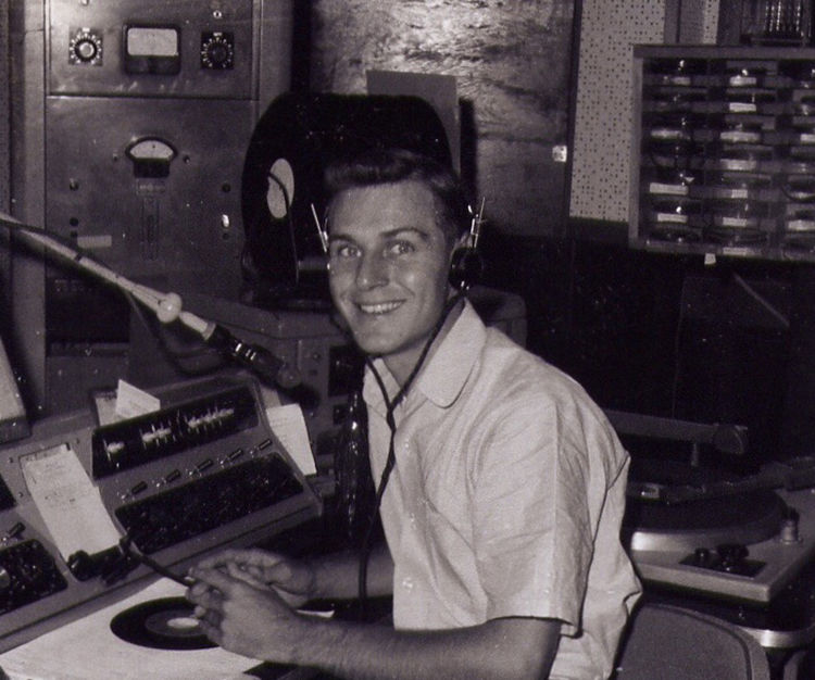 Harry Chapman, in his early broadcasting days