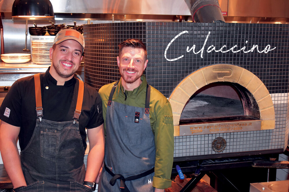 Manlio Melloni, sous chef and Frank Pullara owner of Culaccnio