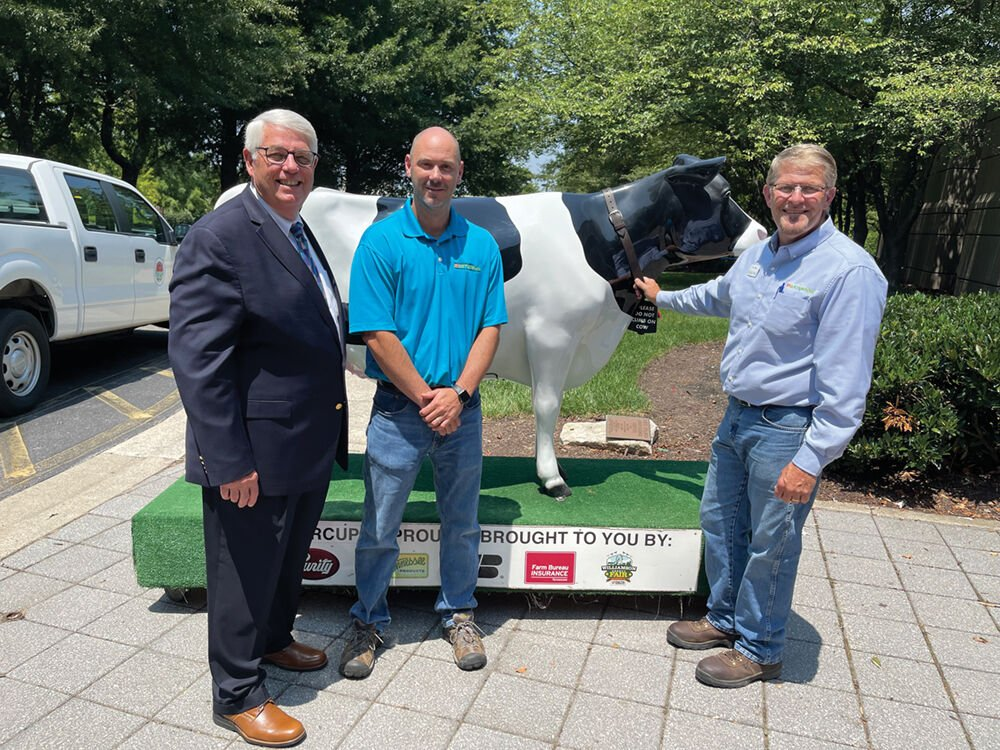 Mayor Rogers Anderson, Matt Horsman and Doug Berny