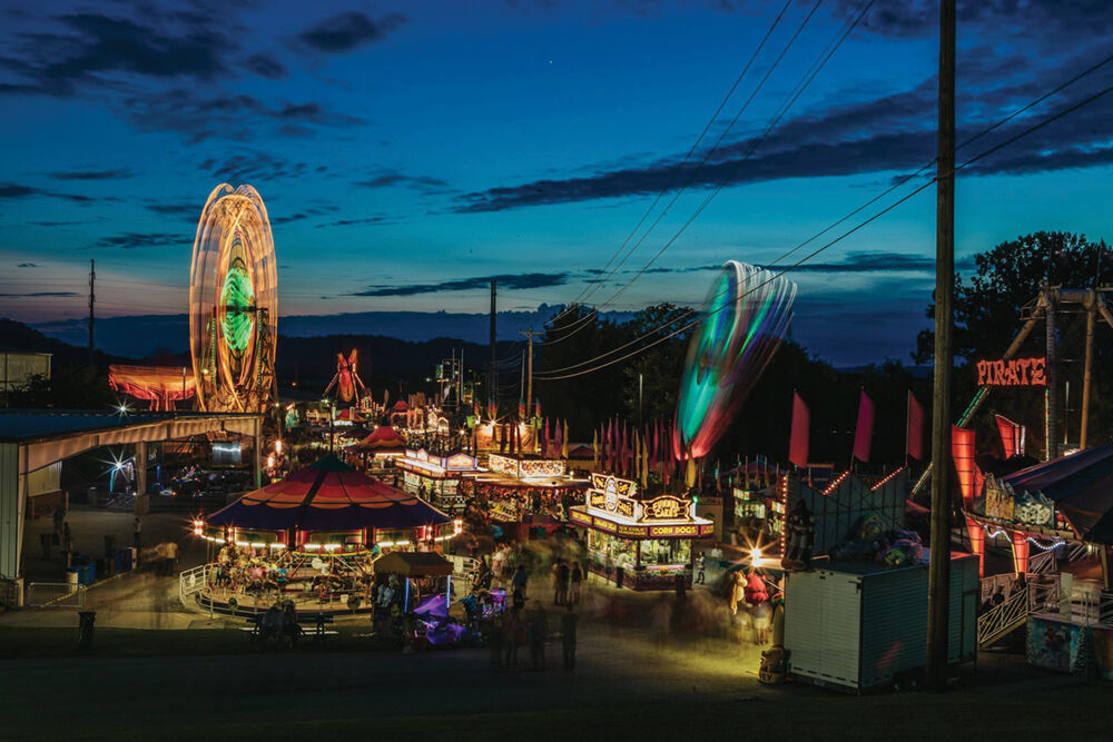 Williamson County Fair Midway at Night