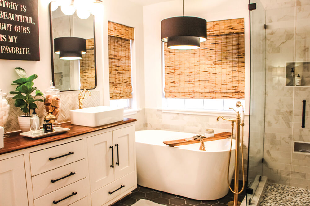 Vanity, Tub and Shower After
