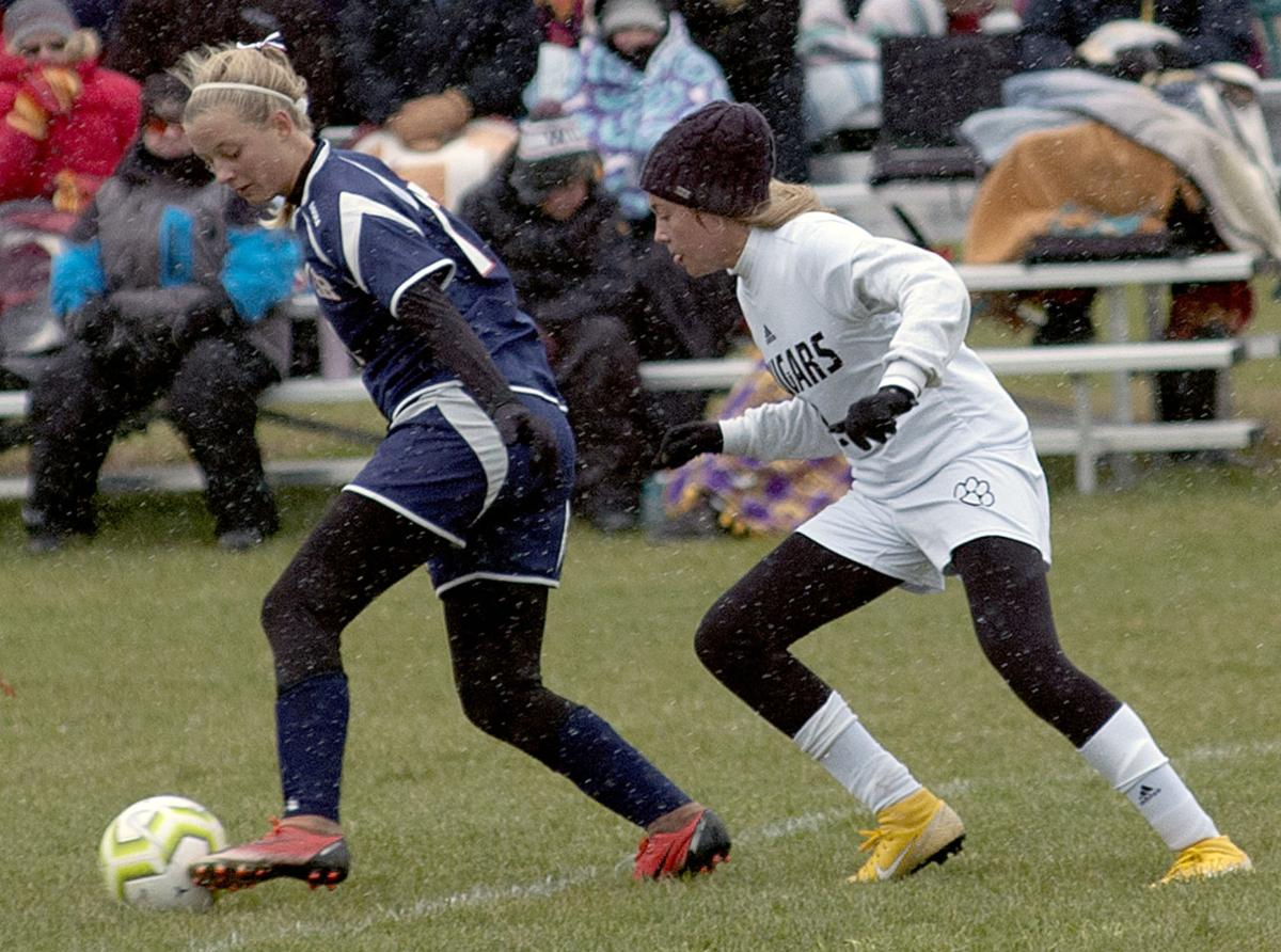 Rookie scores lone goal in Saints' section soccer win over East
