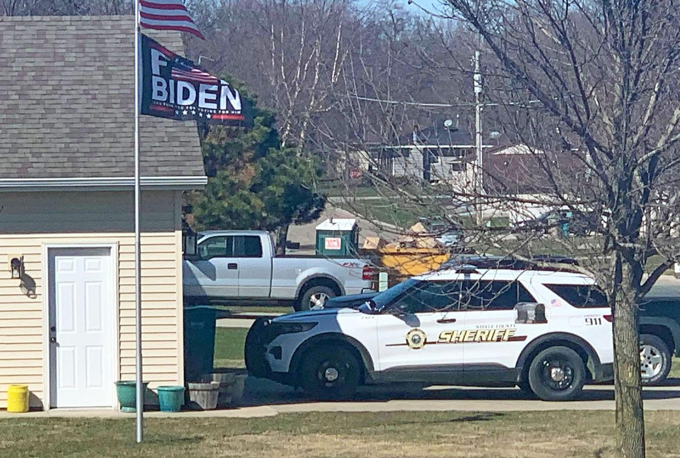 Deputy's squad car in Medford
