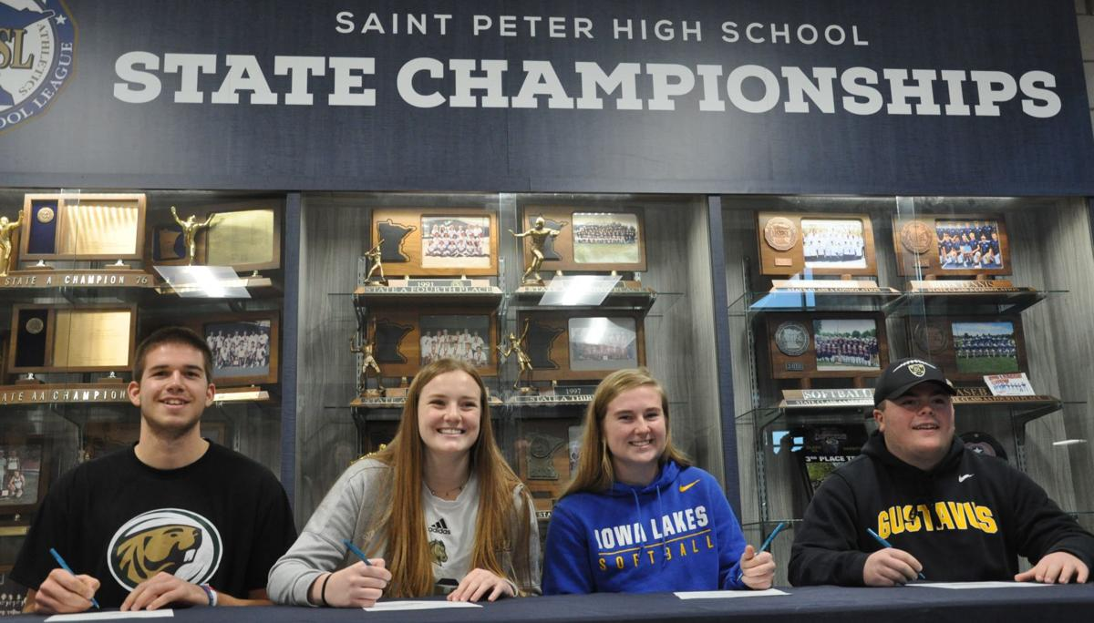 Four SPHS athletes sign collegiate letters of intent