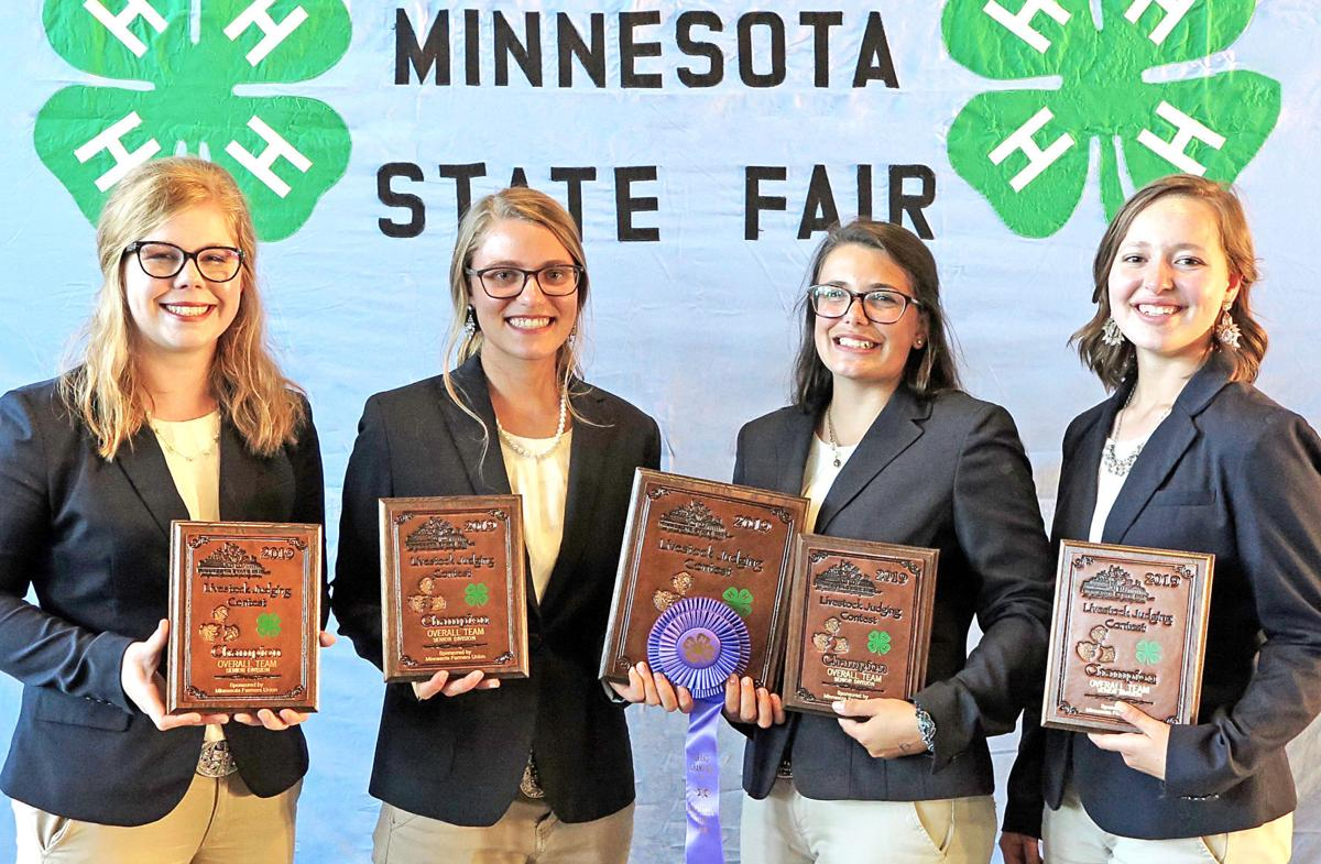 General Livestock Judging Senior Team Overall First Goodhue