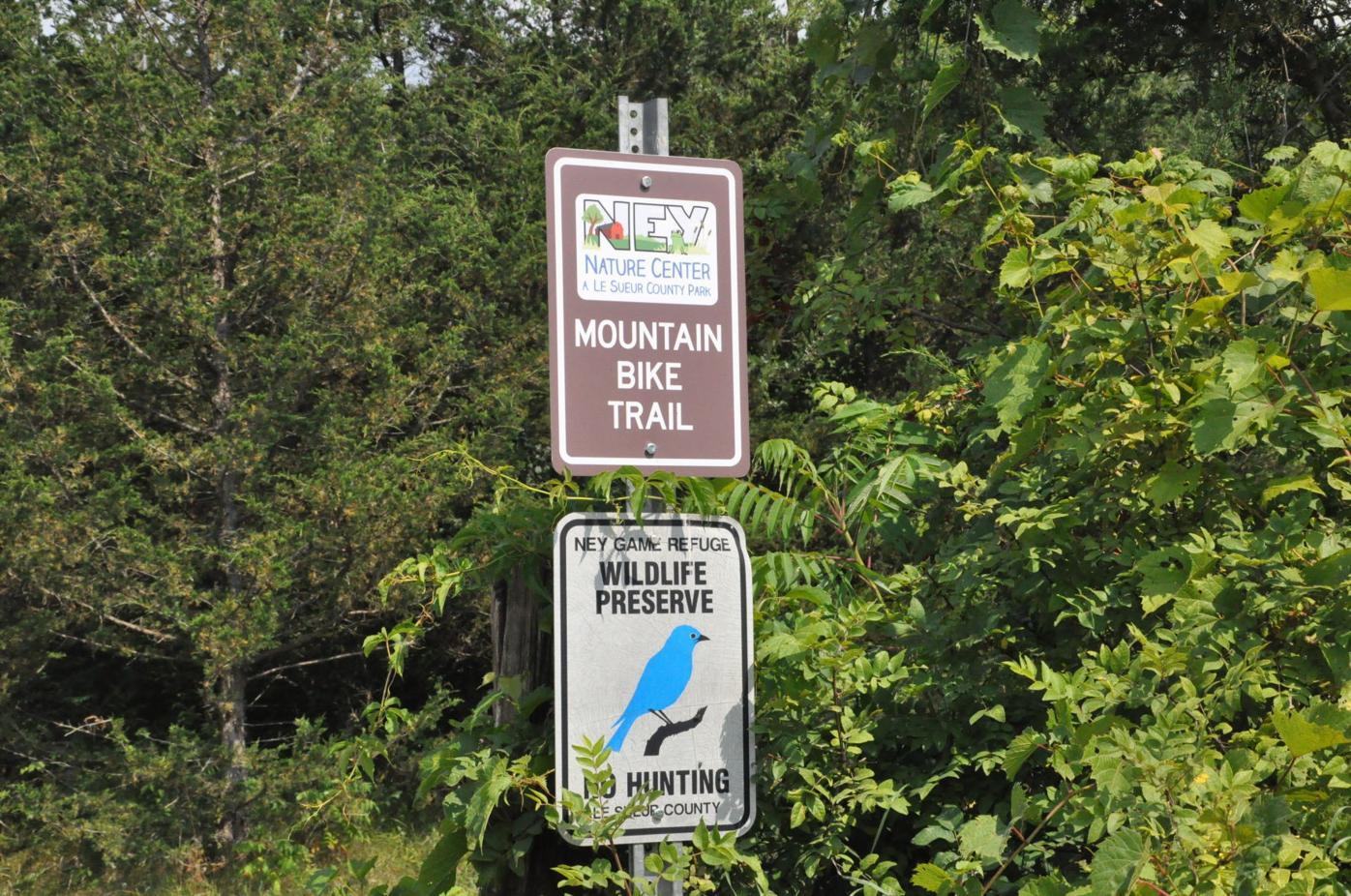Ney Center mountain bike trail