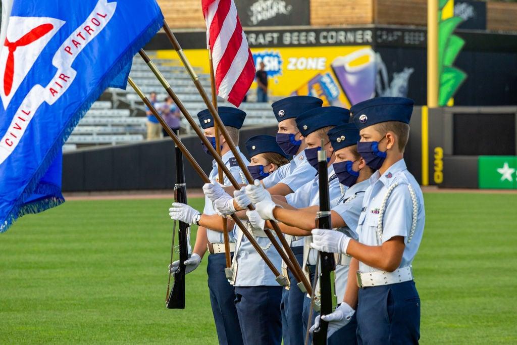 Stanton Civil Air Patrol Honor Guard at Saint Paul Saints - Photo by Curt Johnson - 2.jpg
